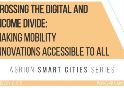 Crossing the Digital and Income Divide: Making Mobility Innovations Accessible to All – Workshop Summary