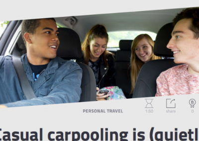 Casual Carpooling: Saving Users Time & Money
