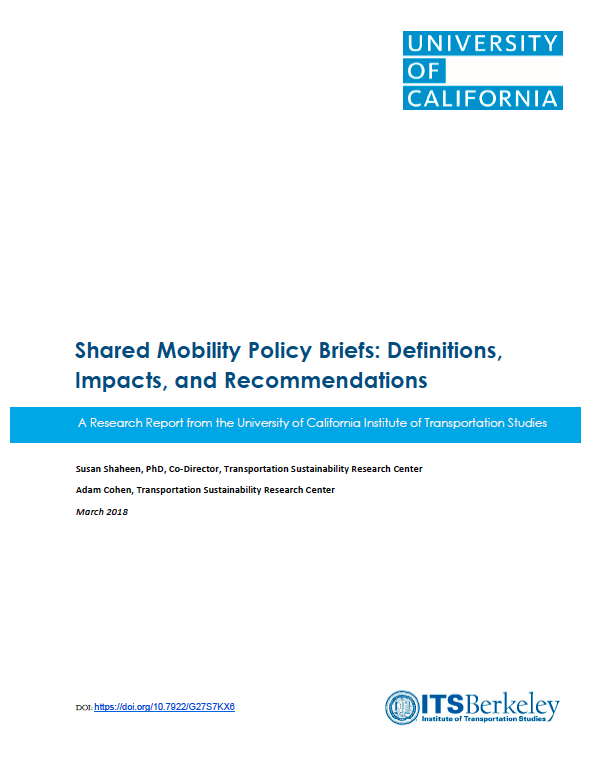 Shared Mobility Resources   Innovative Mobility Research
