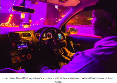 Uber drivers need armed guards in South Africa