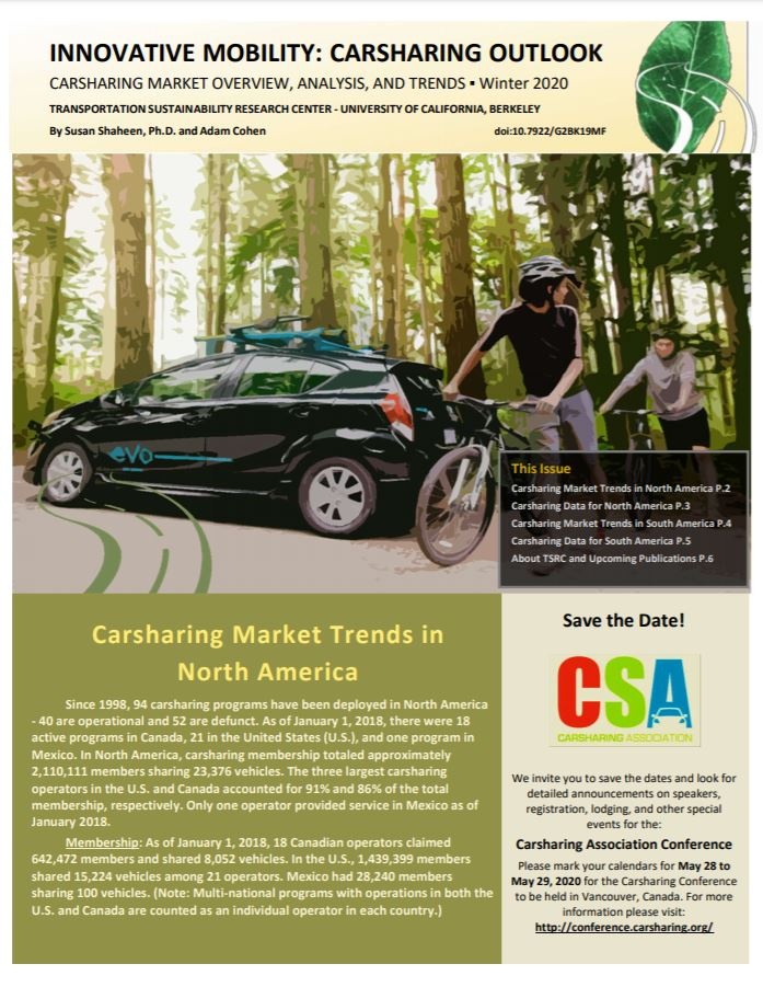 Innovative Mobility Carsharing Outlook – Winter 2020
