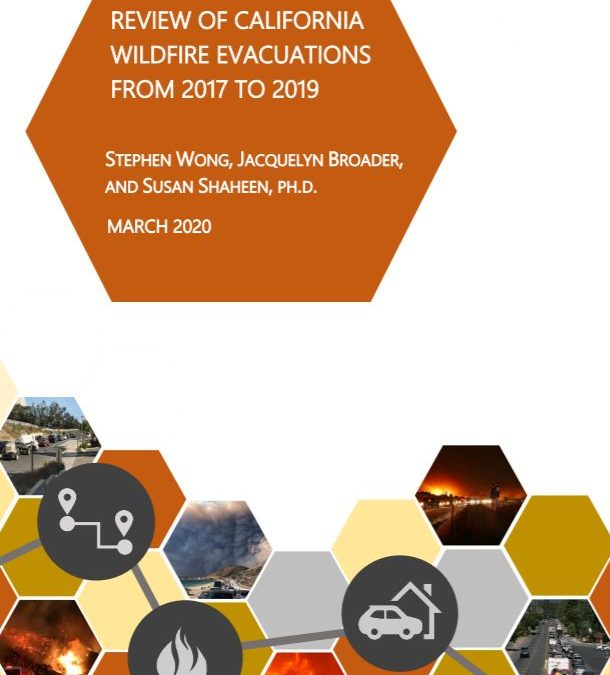 Review of California Wildfire Evacuations from 2017 to 2019