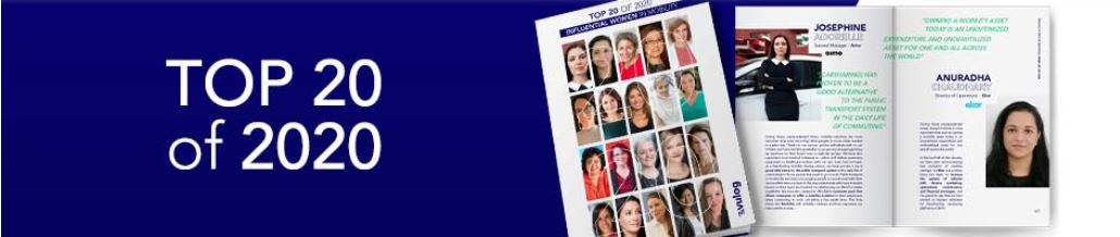 Top 20 of 2020 Influential Women in Mobility